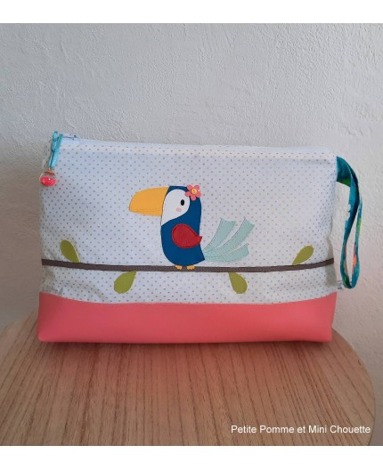 Trouse de toilette personnalisable Toucan
